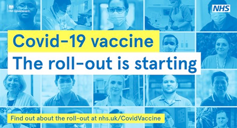 The covid-19 vaccine roll out if starting find out about the roll out a nhs.uk/covidvaccine